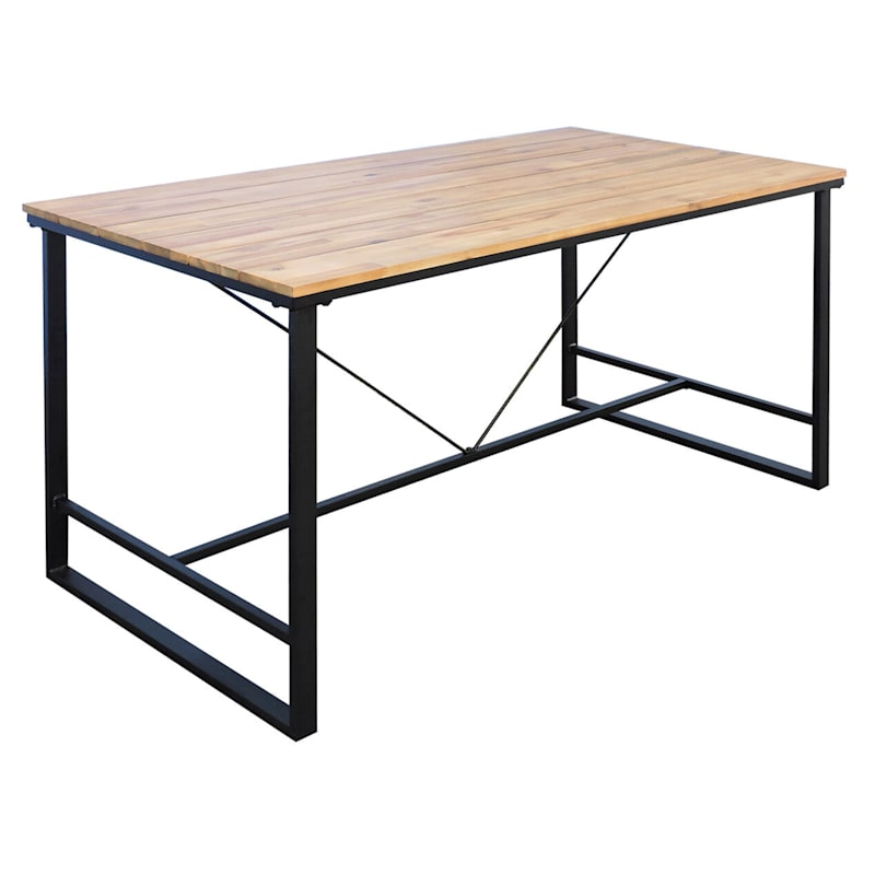 Oliver Outdoor C-Table Acacia Wood & Steel