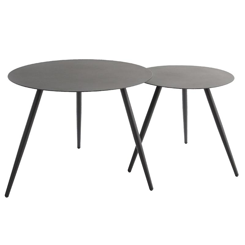 Black Metal Round Side Tables