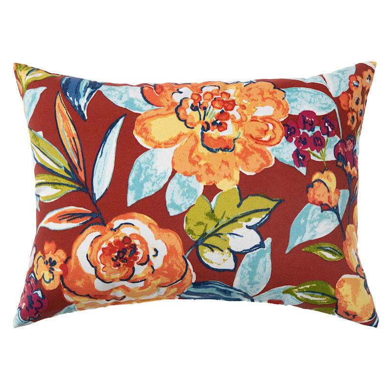 Floral Calypso Outdoor Oblong Pillow, 12x16