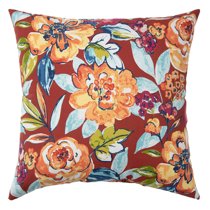 Floral Calypso Outdoor Square Pillow, 20""