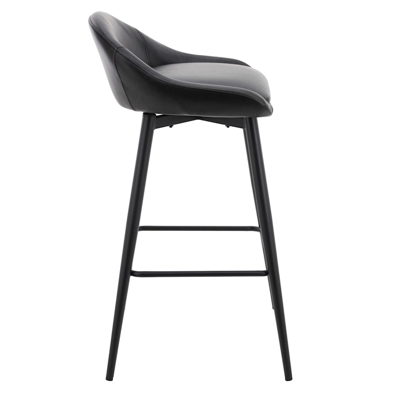 Creed Low-Back Swivel Barstool