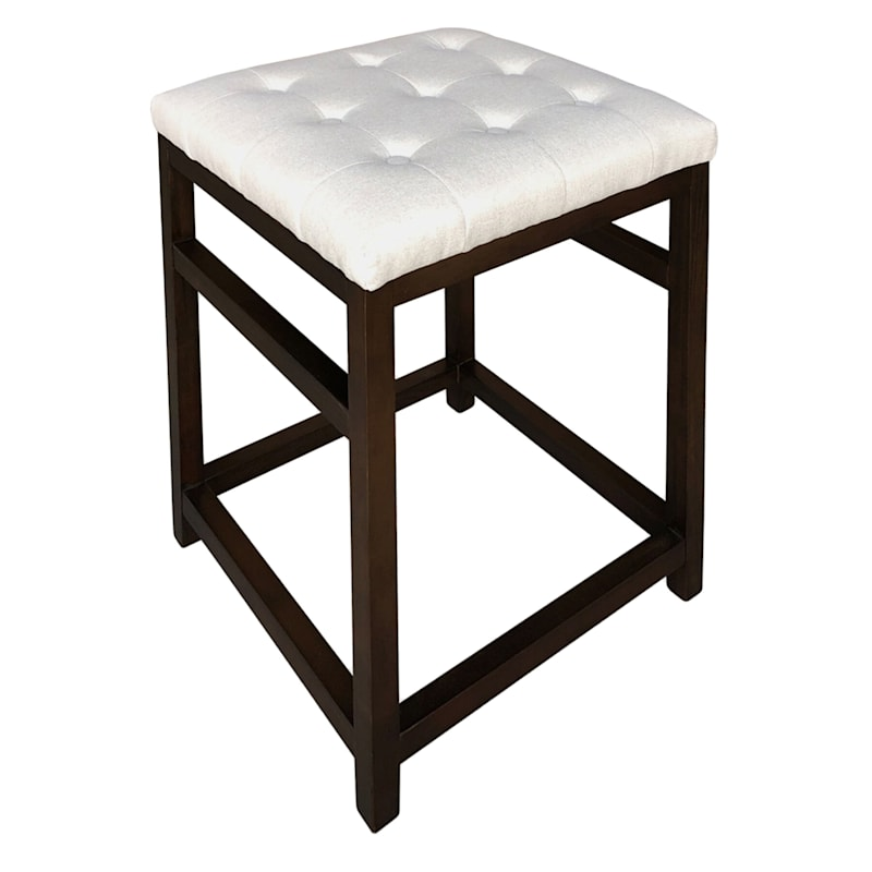 Derek White Square Counter Stool At Home