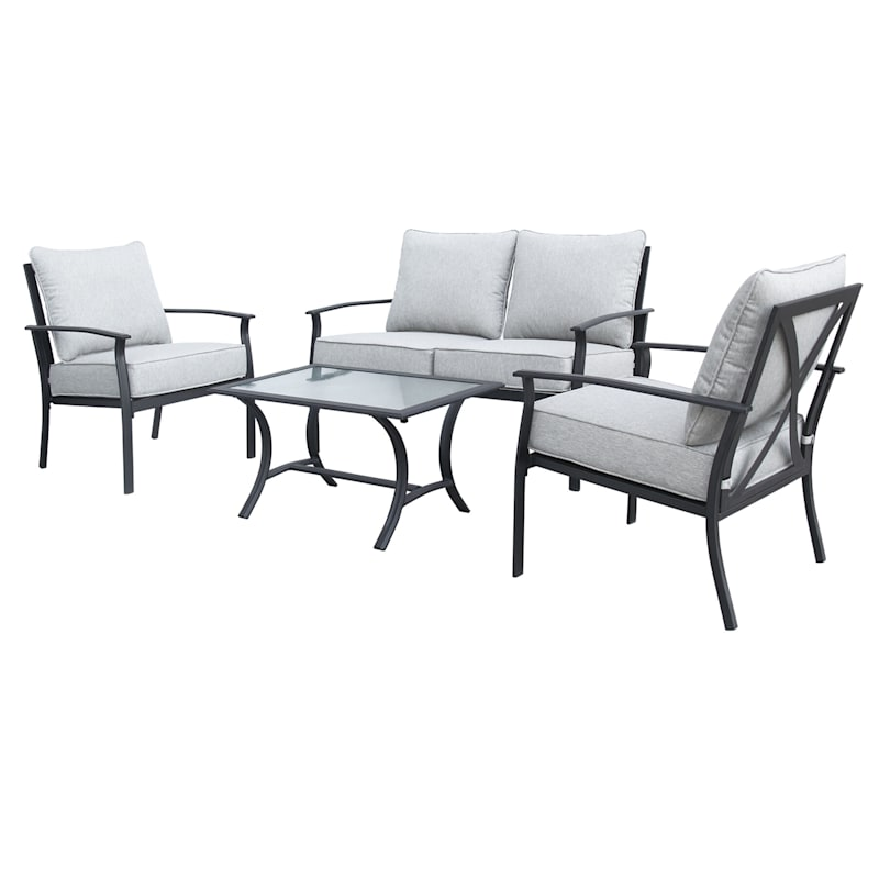 Lexington 4 Piece Steel Outdoor Lounge Set At Home