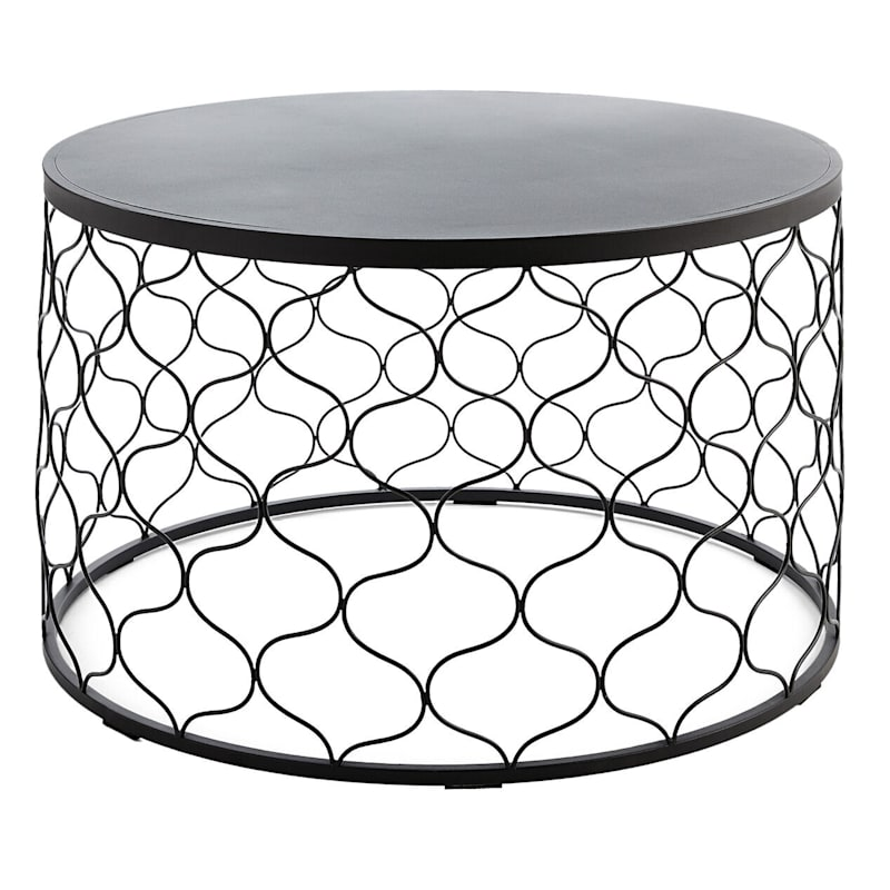 Grammercy Black Steel Outdoor Bar Table, 60X25