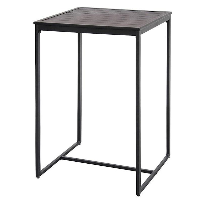 Grammercy Black Steel Outdoor Bar Table, 28X28