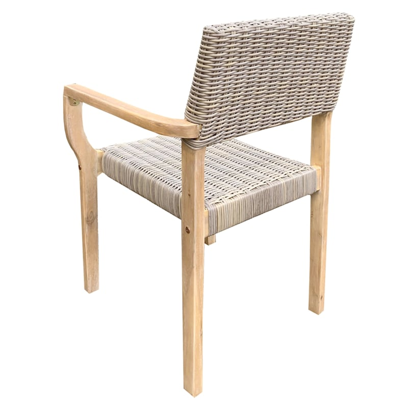 Park City Outdoor Wicker & Wood Dining Chair