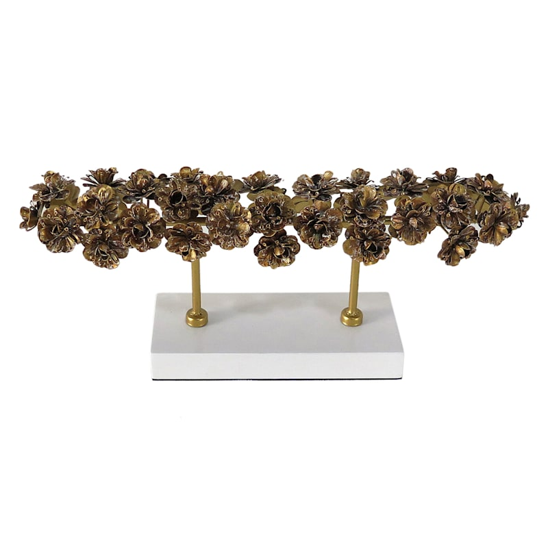 18IN GOLD FLORAL FIGURE