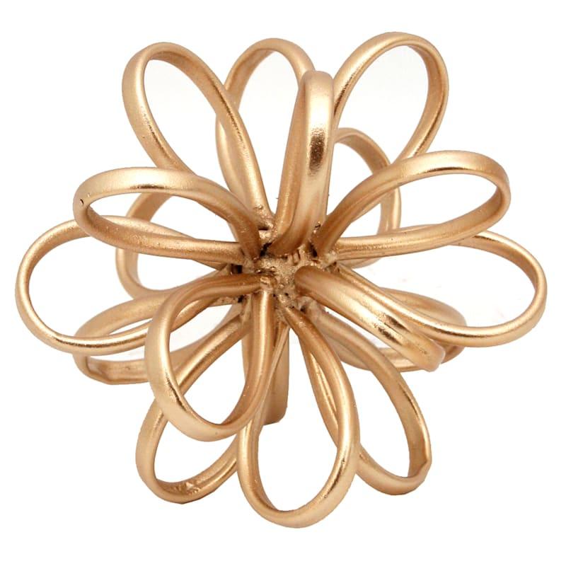 "Gold Metal Flower, 5"""