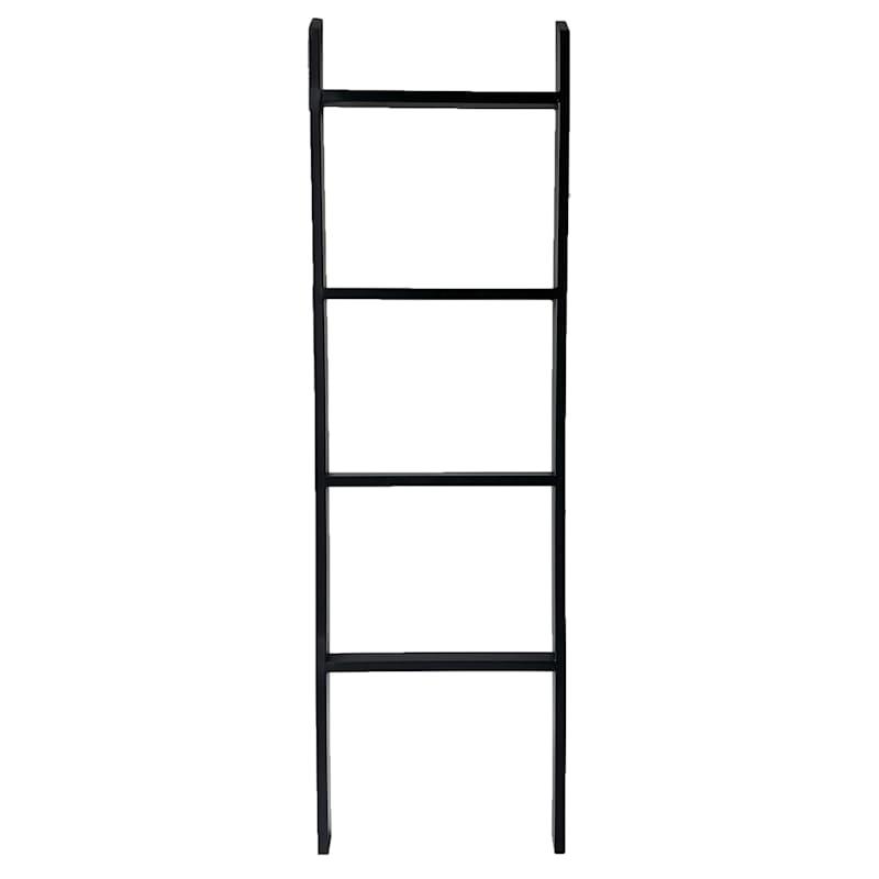 Black Metal Decorative Blanket Ladder