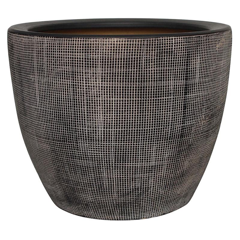 Grid Ceramic Planter 11.4in.