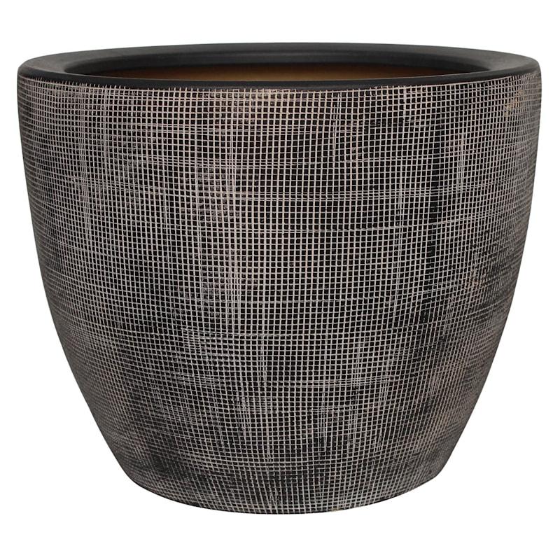 Grid Ceramic Planter 6.3in.
