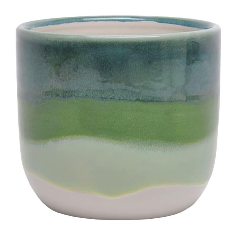 Ohio Small Green Indoor Ceramic Planter