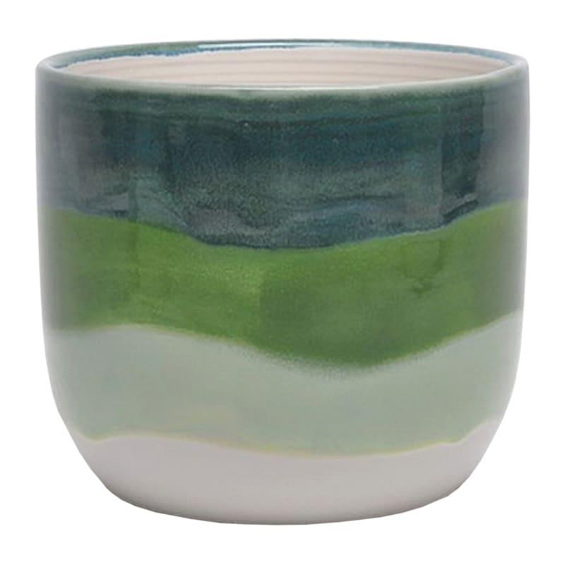 Ohio Large Green Indoor Ceramic Planter