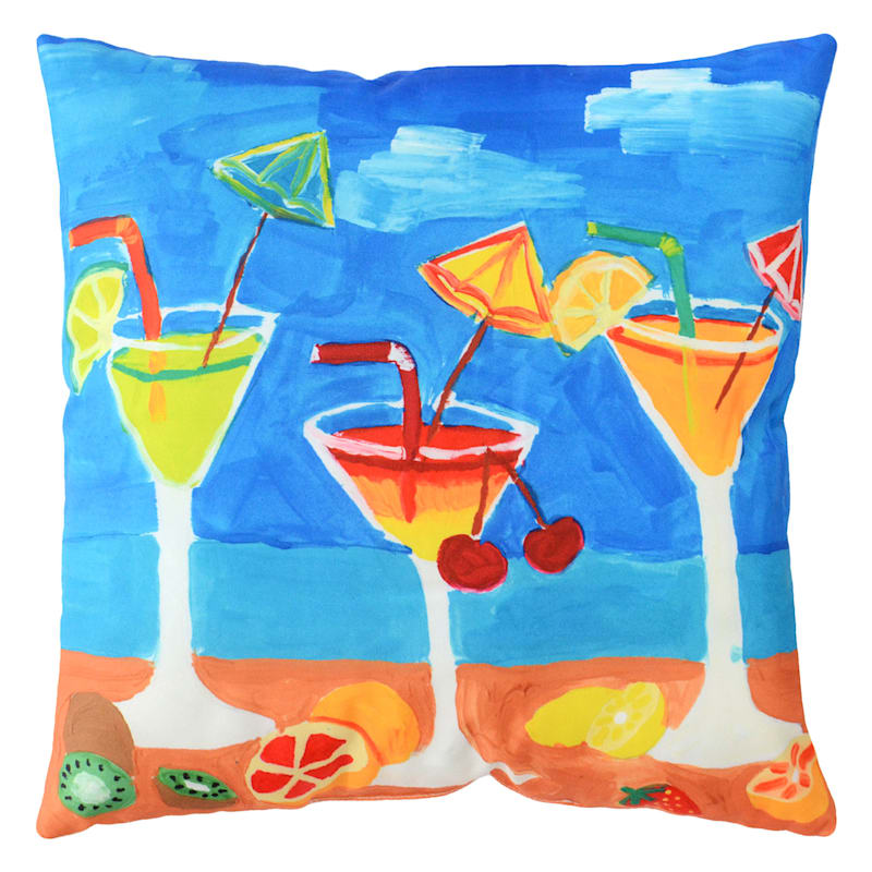 Outdoor Pillow- Tropical Cocktail