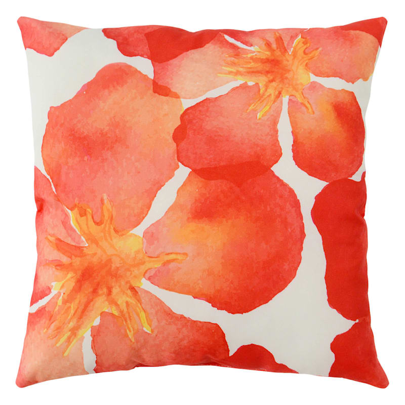 Outdoor Pillow-Water Pansy