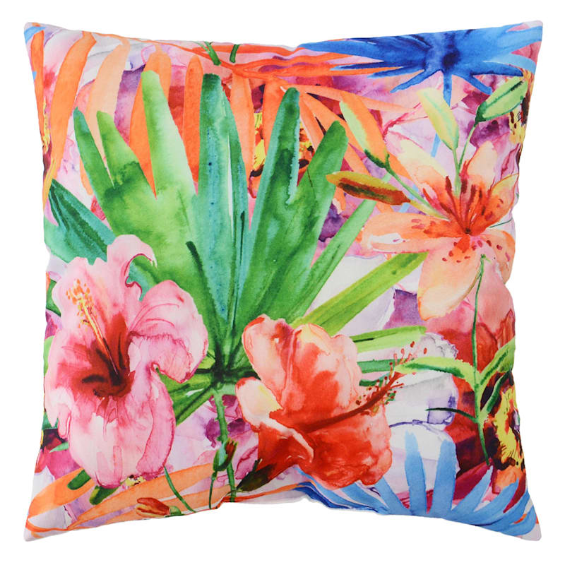 Outdoor Pillow- Tropical Floral
