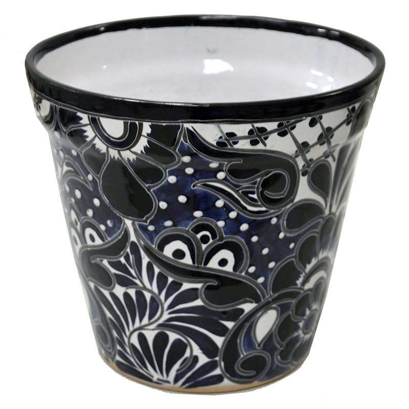 10 8in Blue Talavera Pot At Home