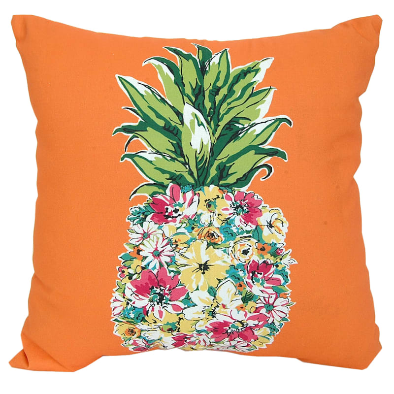 Outdoor Pillow - Floral Pineapple