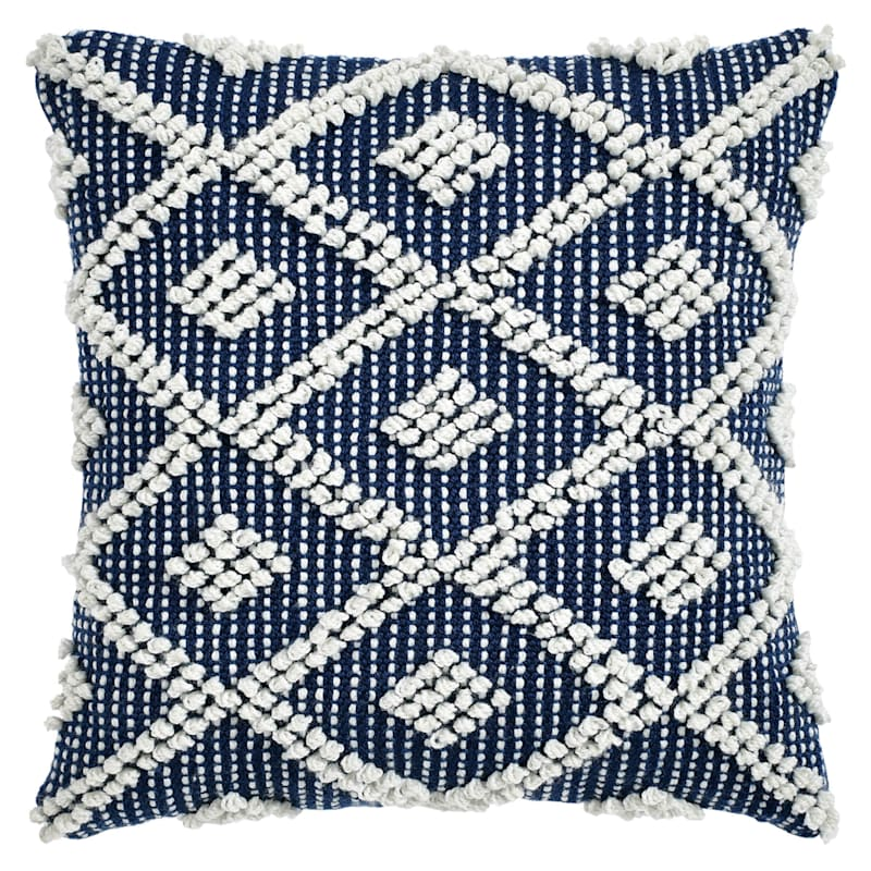 Navy Outdoor Pillow - Adelyn