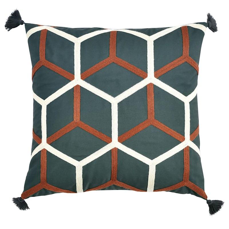 Black/Gold Outdoor Pillow - Lattice