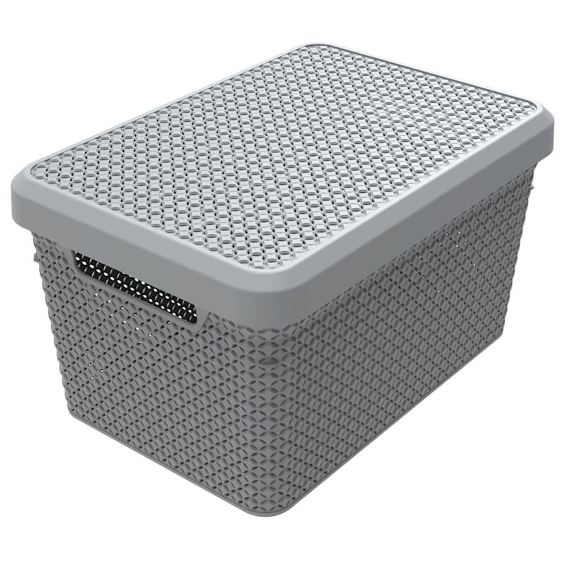 Ezy Mode 17.3L Large Storage Basket Grey