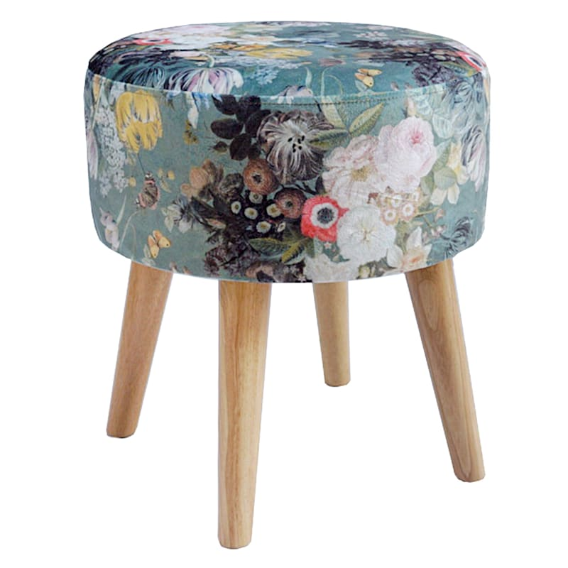 EMMY STOOL GREEN FLORAL