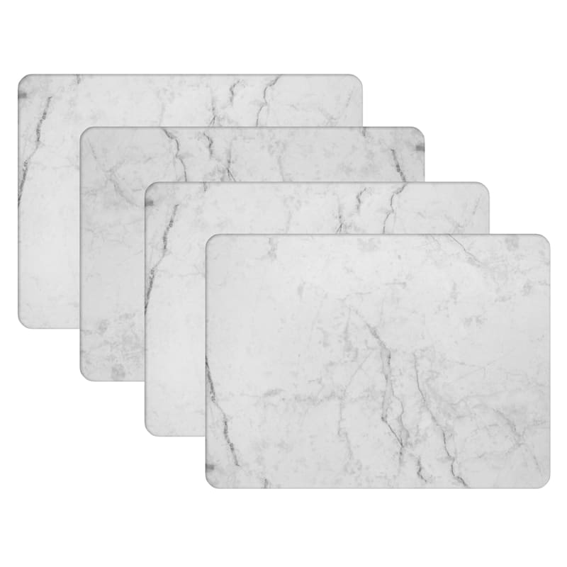Set Of 4 Cork Marble Placemat At Home