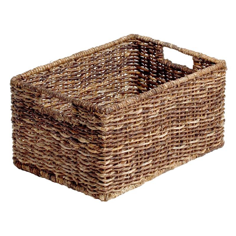 Abaca Rectangular Basket Medium