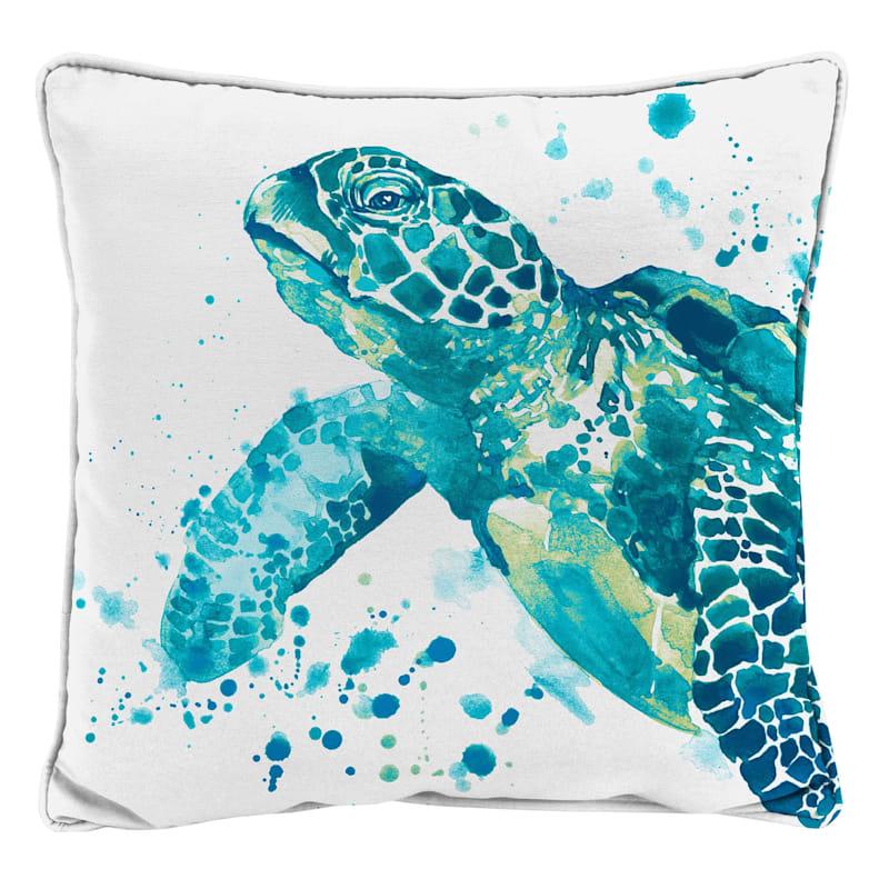 Outdoor Pillow- Seascape Turtle