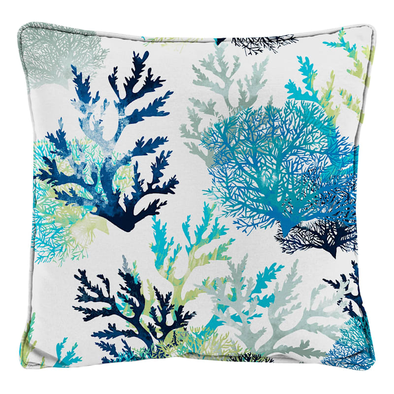 Outdoor Pillow- Seascape Coral