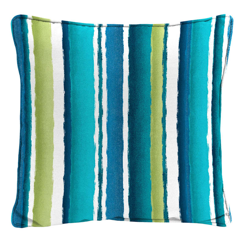 Outdoor Pillow- Seascape Stripe