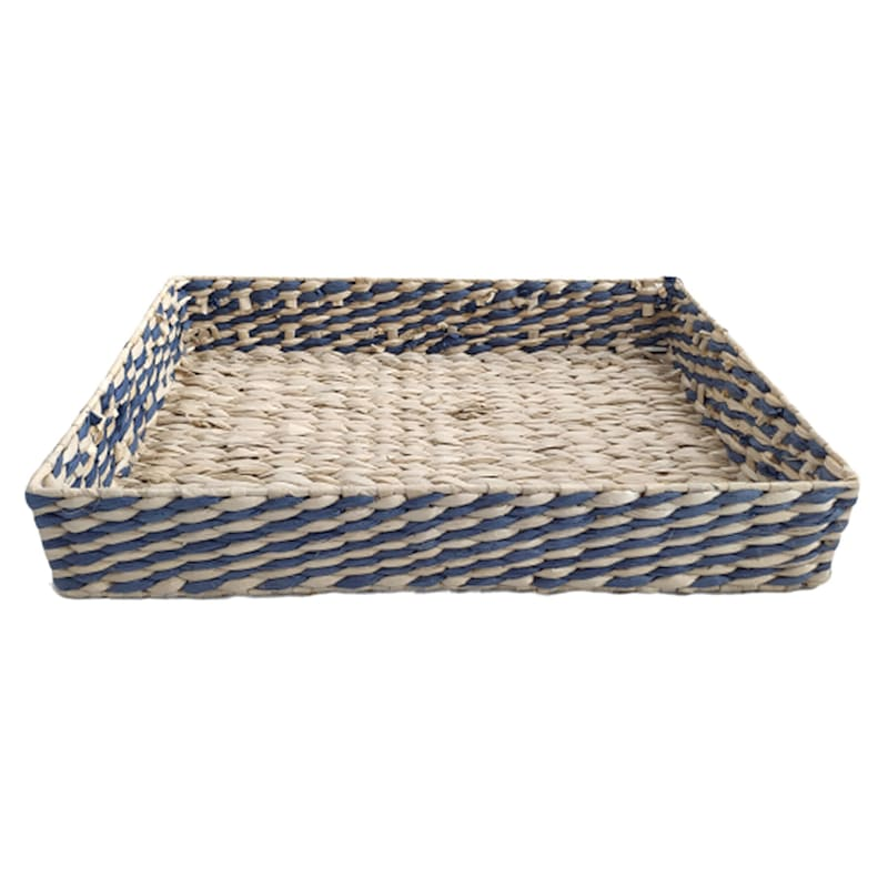"""Natural/Blue Grass Tray, Large (19.7"""")"""