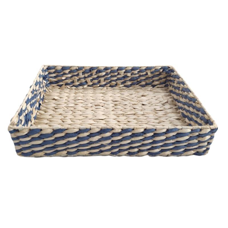"""Natural/Blue Grass Tray, Medium (16.1"""")"""