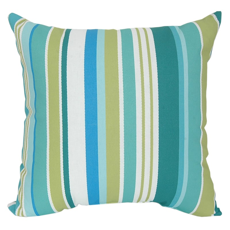 Outdoor Pillow - Stripe Lagoon