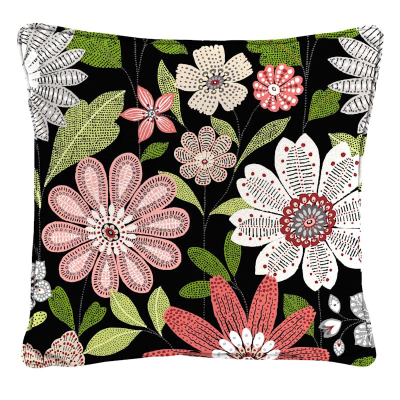 Outdoor Pillow- Malala Raven Floral