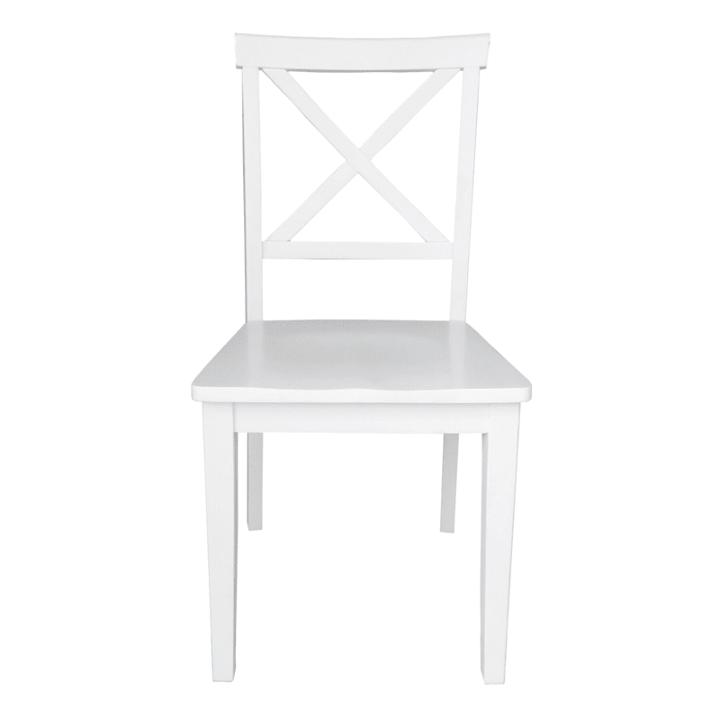 X Back White Dining Chair