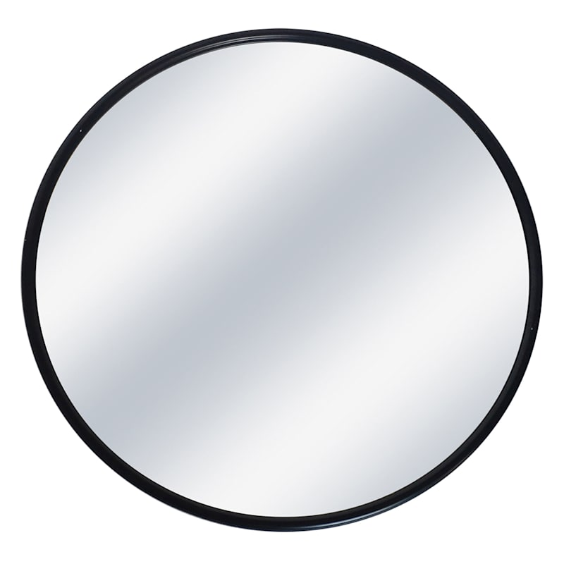 32in. Diameter Metal Round Black Mirror