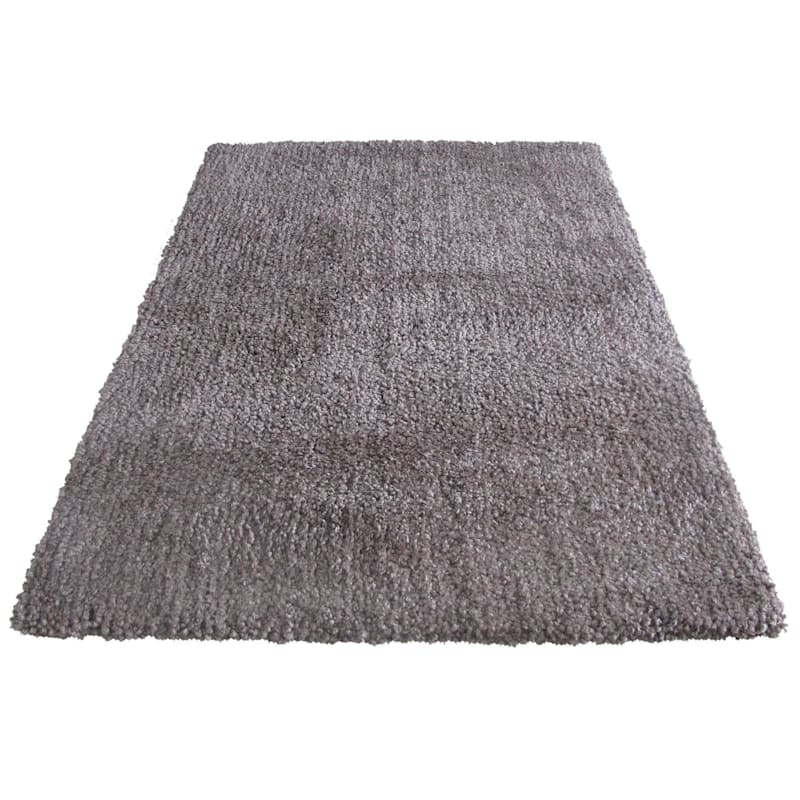 C147 Yeti Taupe Shag Area Rug 7x9 At Home