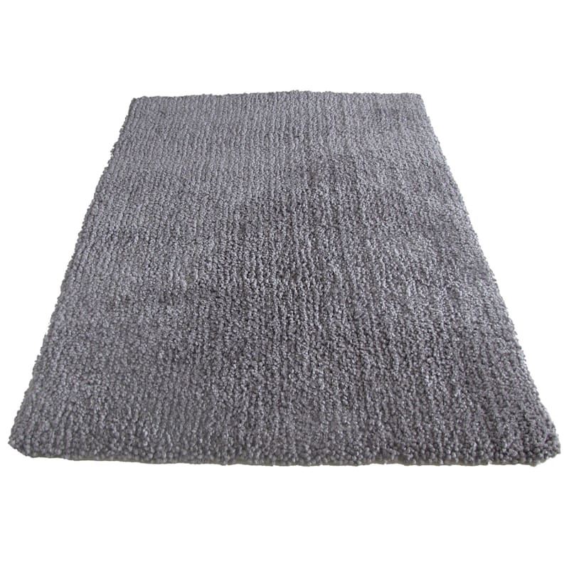 """C92 Yeti Shag Rug, 6'3"""" x 9'2"""", Medium Gray"""