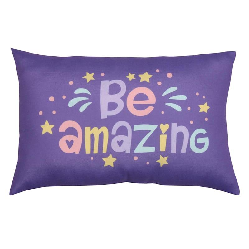Be Amazing Throw Pillow, 12x18