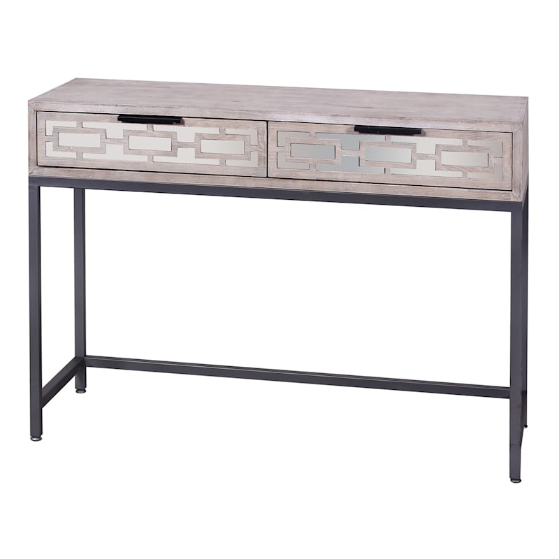 Mirrored 2-Drawer Console