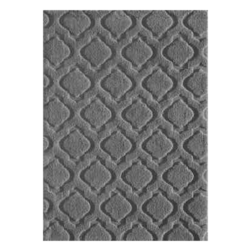 (D458) Jardel Grey Tufted Area Rug With Non-Slip Back, 5x7