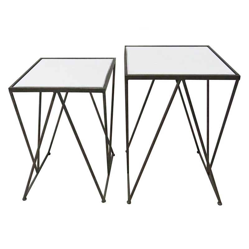 CHAMP/WHITE SQUARE TABLE SMALL