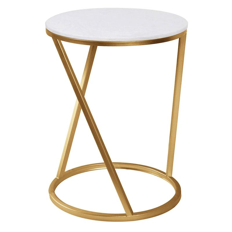 Quartz/Gold Metal Accent Table, Large
