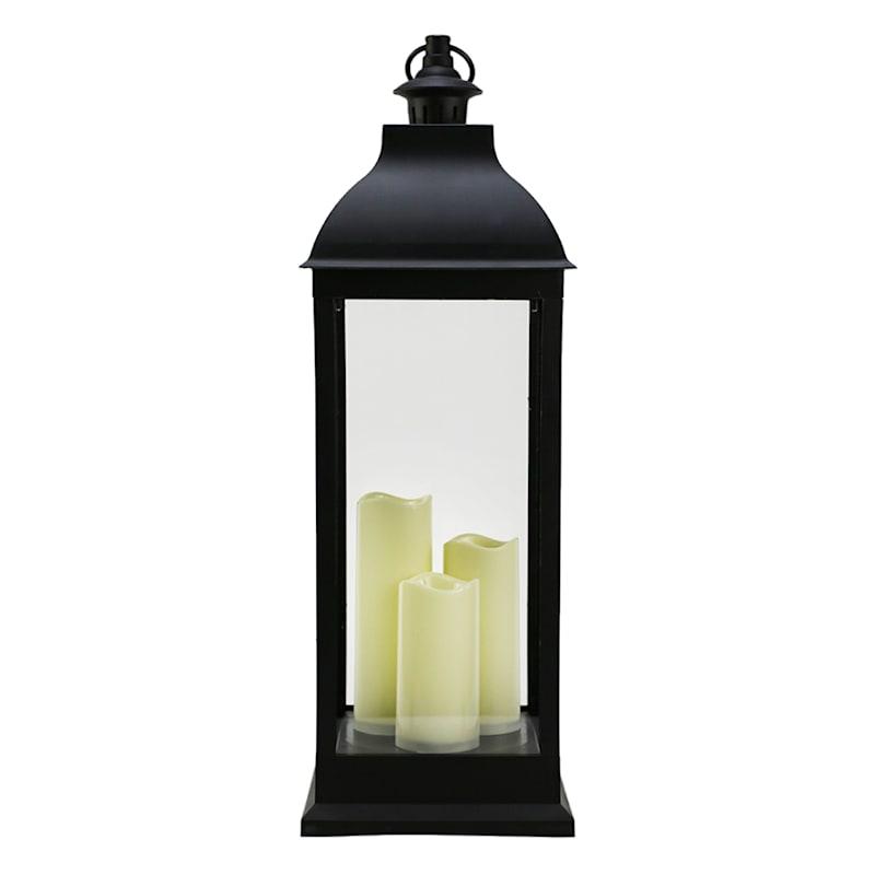 9.5X28 Black Led Lantern