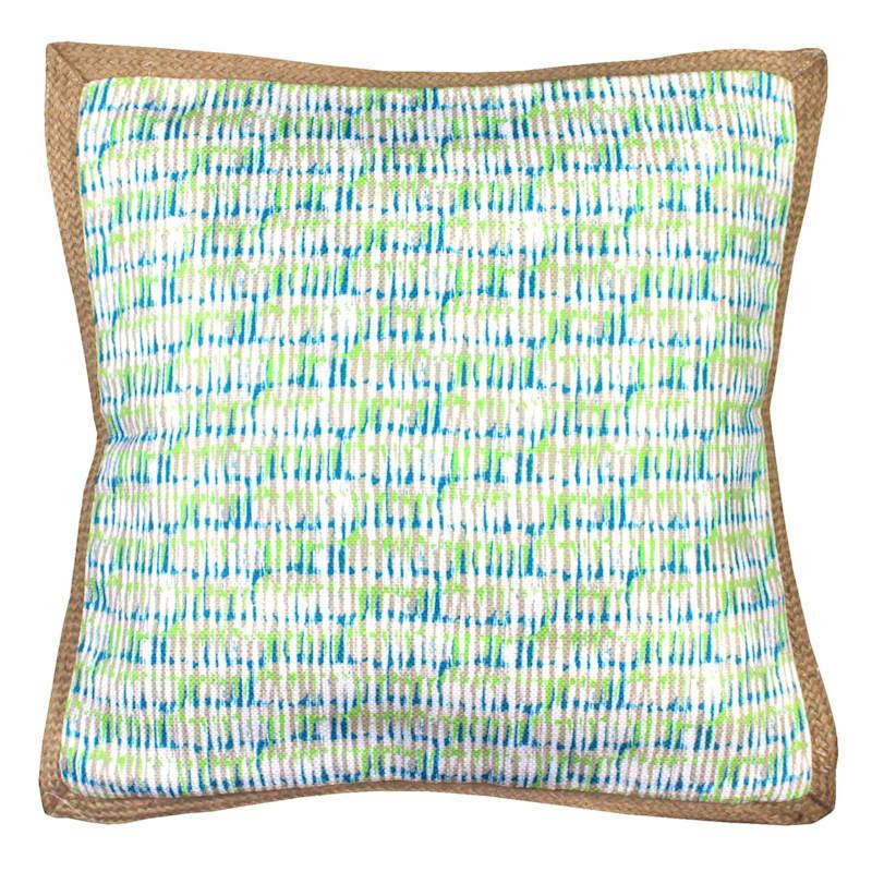 Blue Rain Woven Pillow 18X18