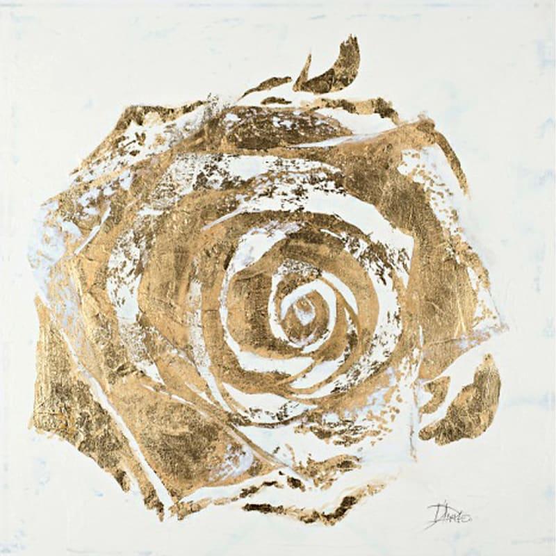 Gold Foil Rose Flower Canvas Wall Art