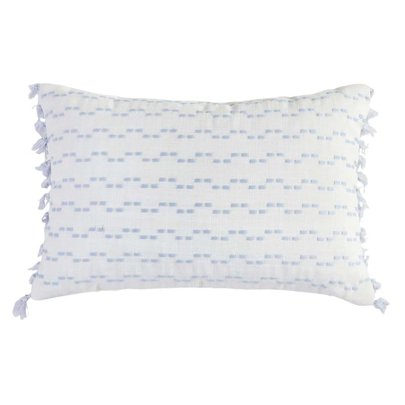 Modern Dreams Emma Blue Tassel Pillow 12X18