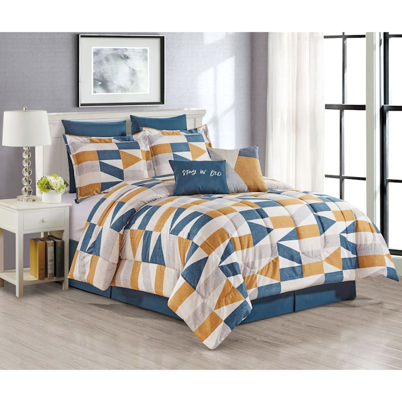 Itsuki 8-Piece Print Comforter Set, Queen