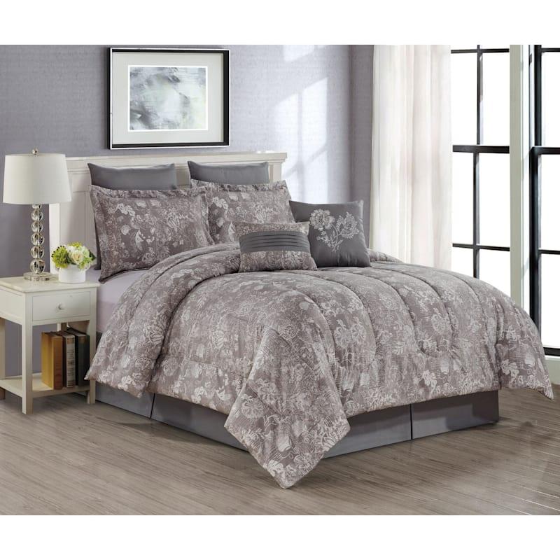 Briella 8-Piece Print Comforter Set, Queen